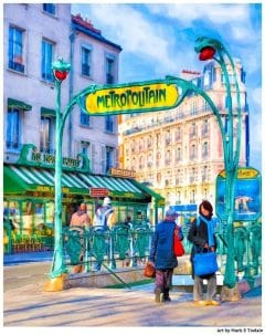 Paris Metro sign - art nouveau architecture print by Mark Tisdale