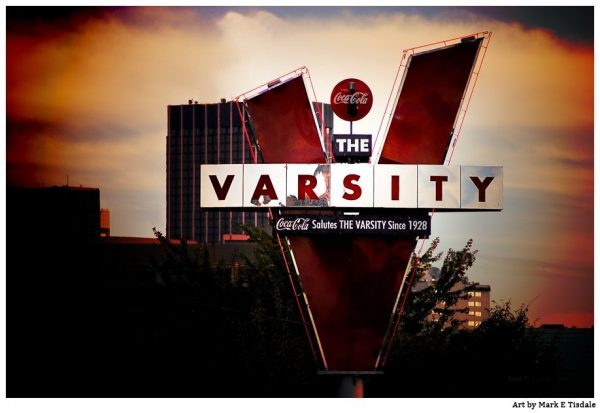 The Varsity - Landmark Atlant Print by Mark Tisdale