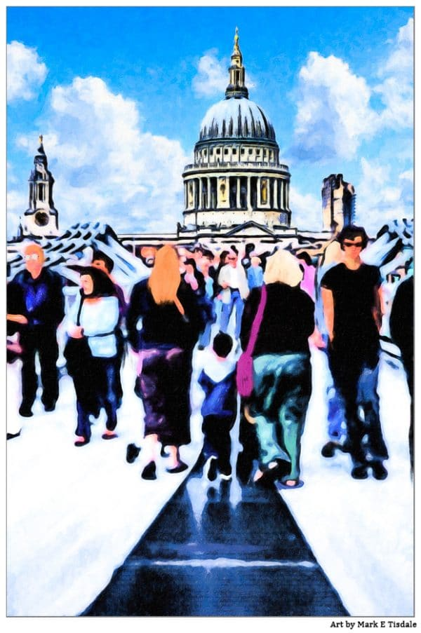 Timeless London - the Dome of St. Paul's Cathedral - Print by Mark Tisdale