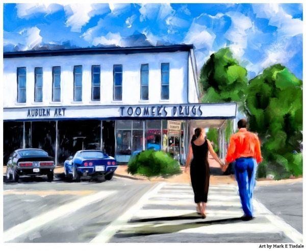Toomer's Corner Art Print - An Auburn Tradition - Print by Mark Tisdale