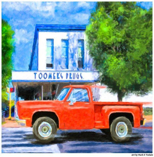 Toomer's Drugs - Auburn Landmark Art by Mark Tisdale