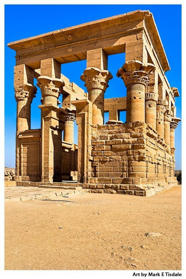 Trajan's Kiosk - Ptolemaic architecture on Island of Philae - Egypt Print by Mark Tisdale