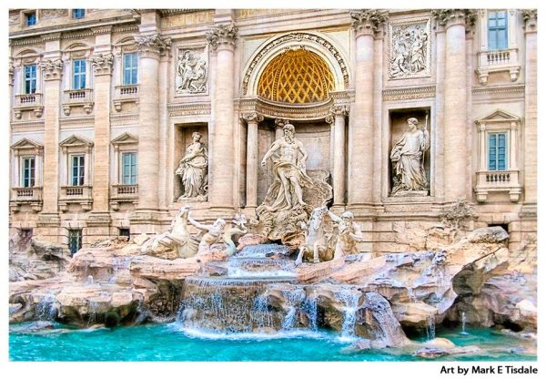 Trevi Fountain art print by Mark Tisdale