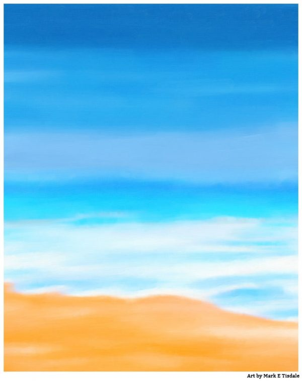 Tybee Island Beach Art - Soft Waves On The Beach - Print by Mark Tisdale