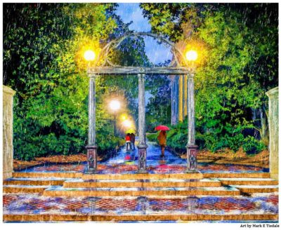 UGA Arch Print - University of Georgia art by Mark Tisdale