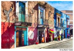 Vibrant Streets of Puebla Mexico - Mexican Art Print by Mark Tisdale