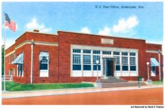 Vintage Andalusia Alabama Postcard - Historic Post Office