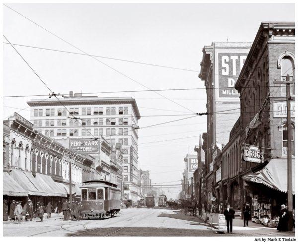 Vintage Birmingham Alabama Print - Early 20th Century