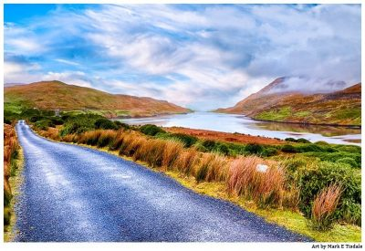Western Ireland Landscape Art - Connemara Print by Mark Tisdale