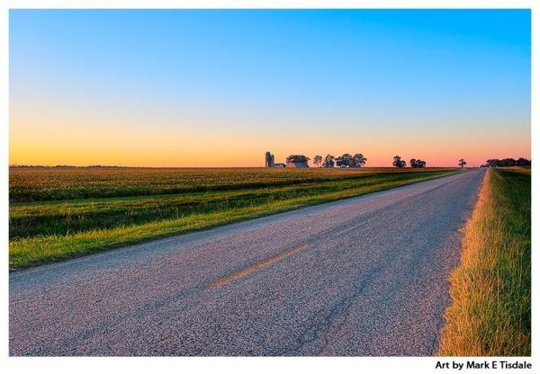Wide open spaces - Rural Georgia Landscape art - Macon County Print by Mark Tisdale