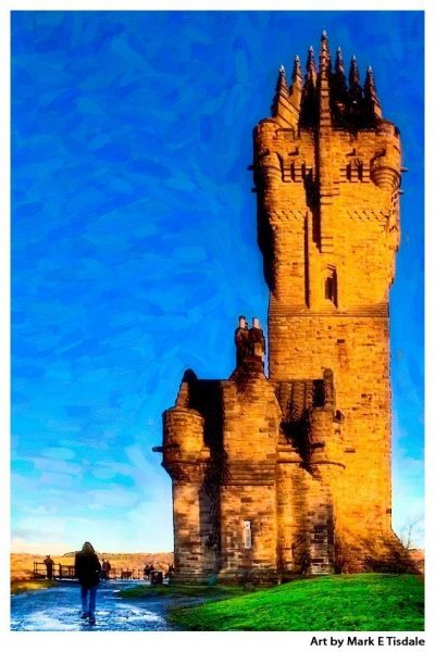 William Wallace Monument in Stirling Scotland - Scottish Highland Print by Mark Tisdale