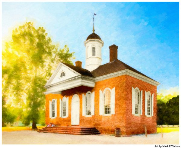 Colonial Courthouse in Williamsburg Virginia - Georgian Architecture Print by Mark Tisdale