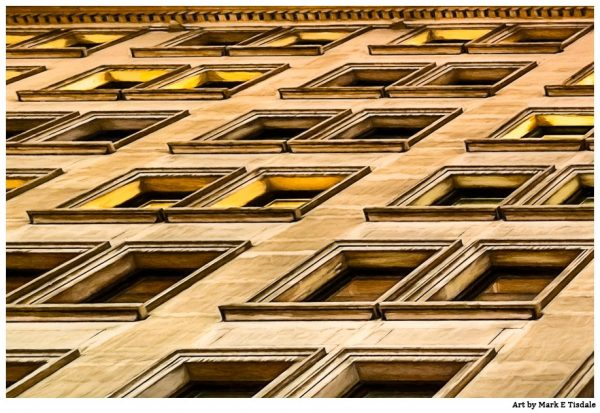 Manhattan Windows - New York City Architecture Art Print by Mark Tisdale