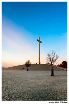 Papal Cross In Dublin - Winter Morning - Ireland Print by Mark Tisdale