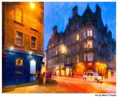 World's End Pub - The Royal Mile - Edinburgh Scotland Print by mark Tisdale