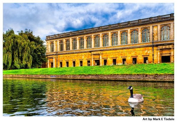 Wren Library at Trinity College - View From The River Cam - Cambridge Print by Mark Tisdale