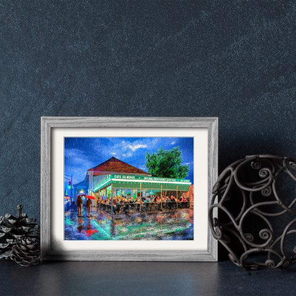 Cafe du Monde Framed Print by artist Mark Tisdale