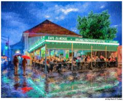 Cafe Du Monde Print by Artist Mark Tisdale