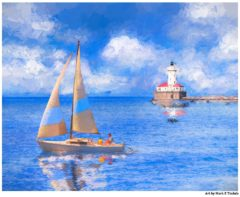 Chicago Harbor Lighthouse Art by Mark Tisdale