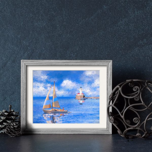 Chicago Harbor Lighthouse Framed Art