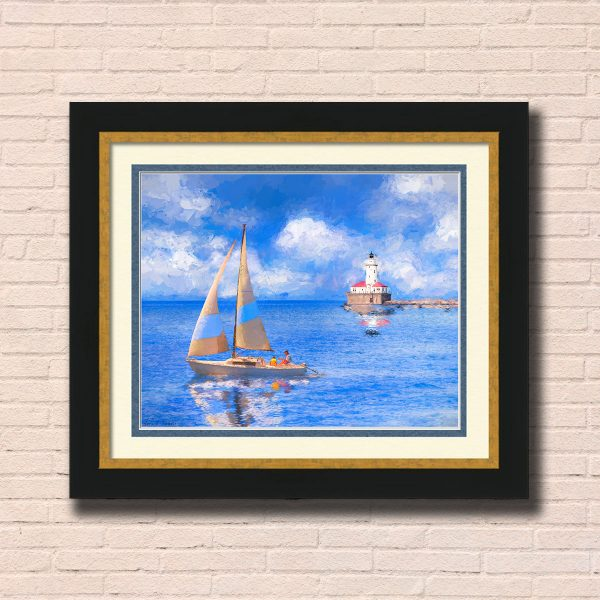 Chicago Harbor Lighthouse Framed Wall Art